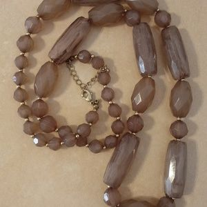 Smokey Brown Color Beaded Necklace